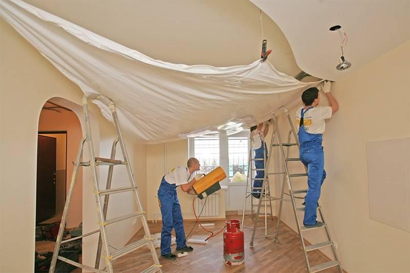 Полотно для натяжного потолка – виды, максимальная ширина потолочного пвх полотна, толщина пленки
