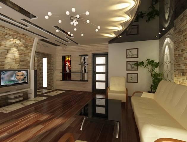 Натяжные потолки для зала в квартире (85 фото): виды современных покрытий, красивый дизайн гостиной 18 кв. м, идеи — 2020