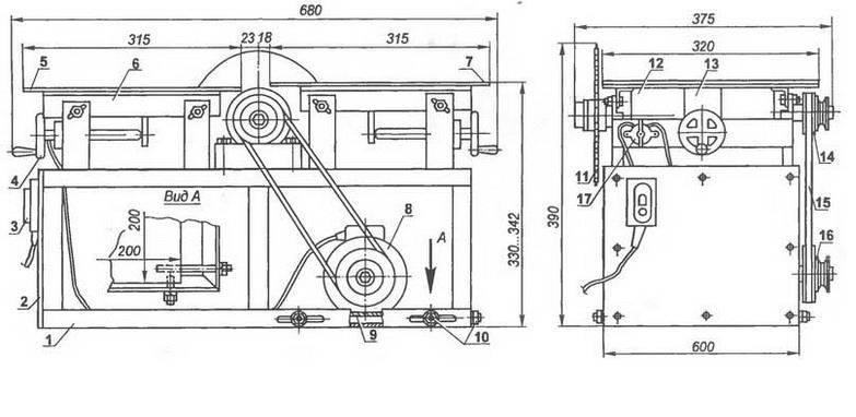 Циркулярный станок своими руками: особенности конструкции, инструкция для изготовления, фото