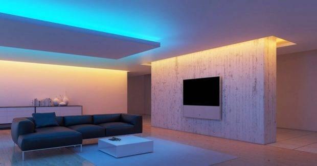 Установка светодиодной ленты на потолок своими руками | советы специалистов