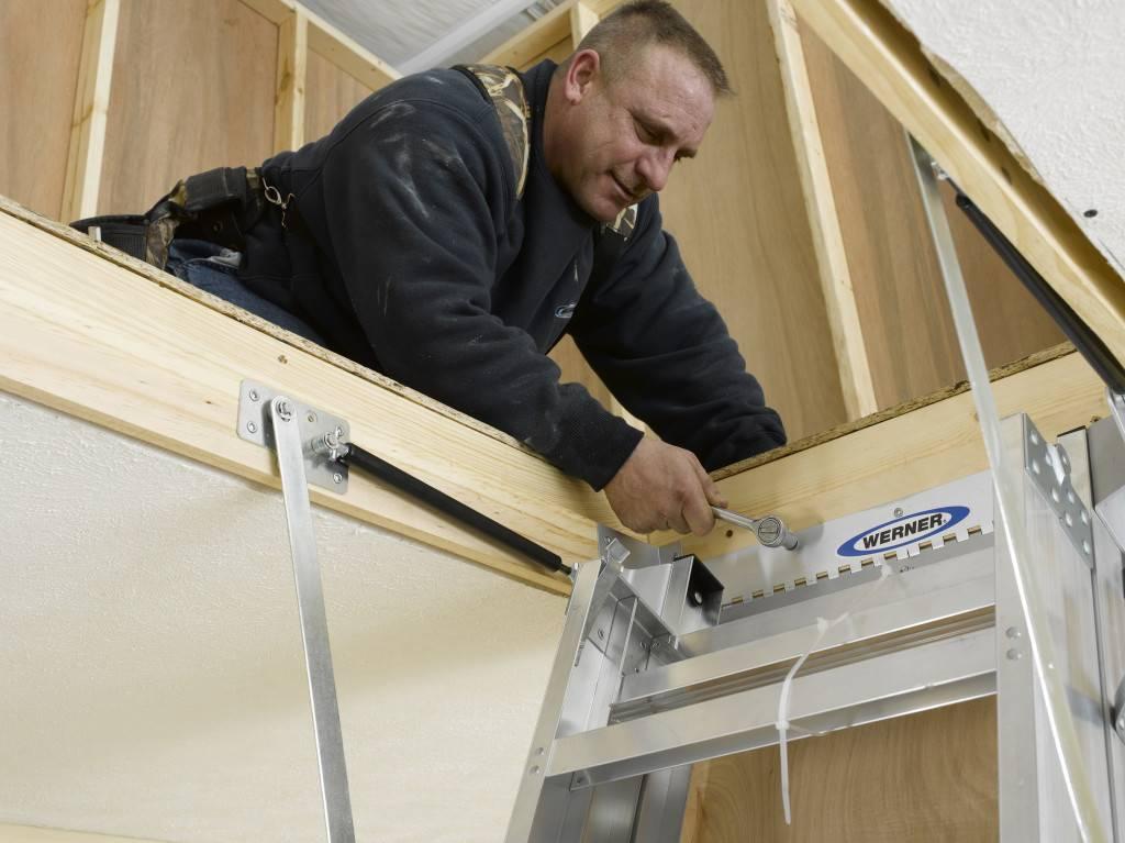 Чердачная лестница с люком своими руками (46 фото): чертежи складных конструкций, монтаж и установка лестницы на чердак