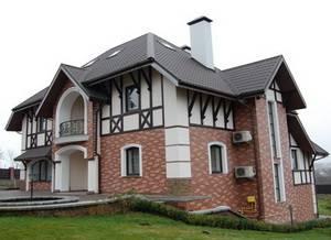 Отделка фасада частного дома клинкерной плиткой