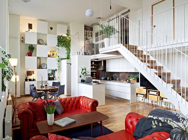 Дизайн квартиры с высокими потолками