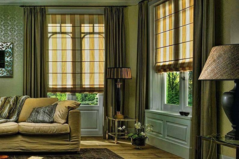 Римские шторы (95 фото): дизайн жалюзи на пластиковых окнах в интерьере балкона и зала, механизмы, из тюля и двойные, что это такое