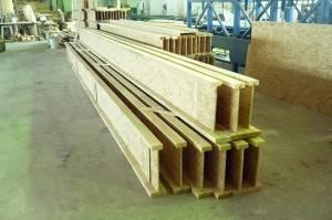 Двутавровая деревянная балка для перекрытий и изготовление двутавров своими руками