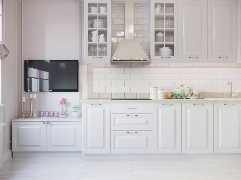 Белая кухня в интерьере: 75 фото, преимущества дизайна