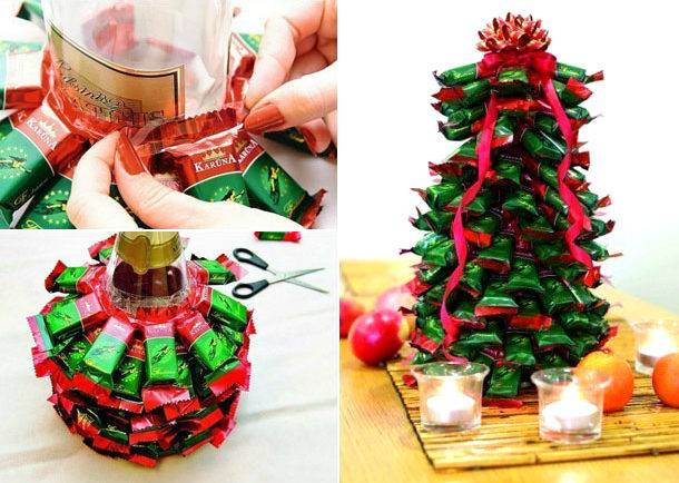 Как украсить своими руками бутылку шампанского на новый год?
