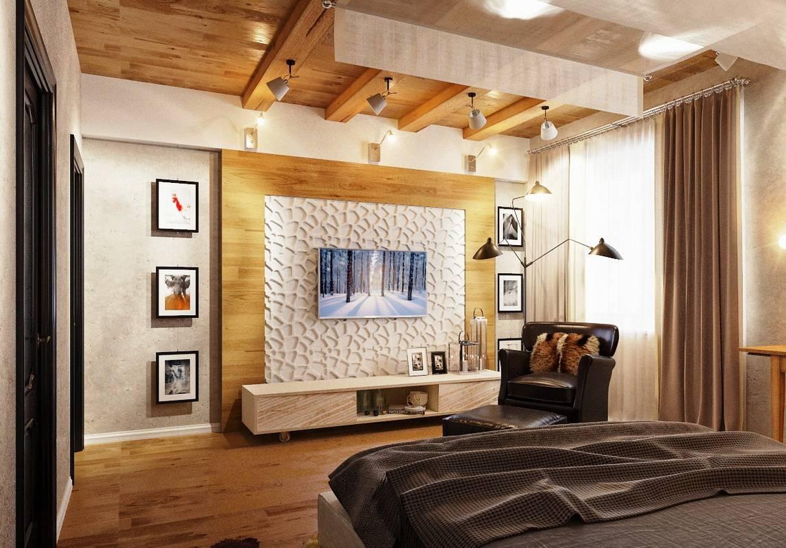 Телевизор в спальне: варианты расположения, дизайн, фото в разных стилях интерьера