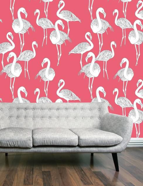 Обои с птицами для стен и стильные принты [70+ идей]