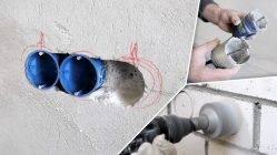 Дыра в стене — заделка отверстий в бетонных и гипсокартонных основаниях