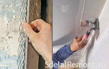 Как выравнивать углы стен шпаклевкой сопутствующие проблемы