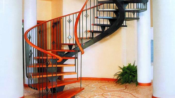Лестница с поворотом на 90°, с площадкой