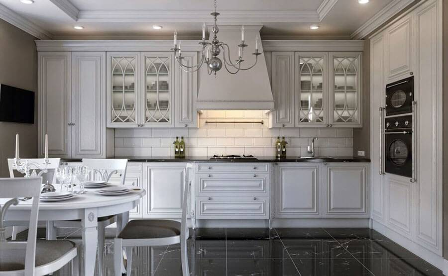 Кухня в стиле неоклассики: идеи оформления интерьера (+86 фото)