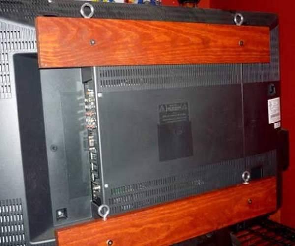 Крепление для телевизора на стену: на какую высоту вешать телевизор, потолочное крепление, как повесить телевизор на стену без кронштейна своими руками » интер-ер.ру