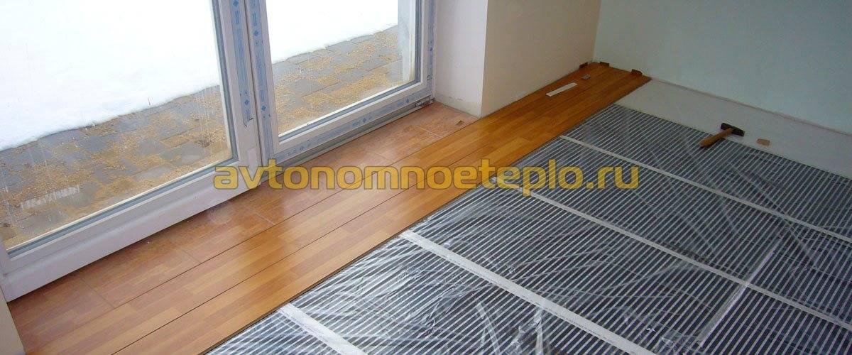 Теплый пол на даче на деревянный пол: электрическая система и ее монтаж