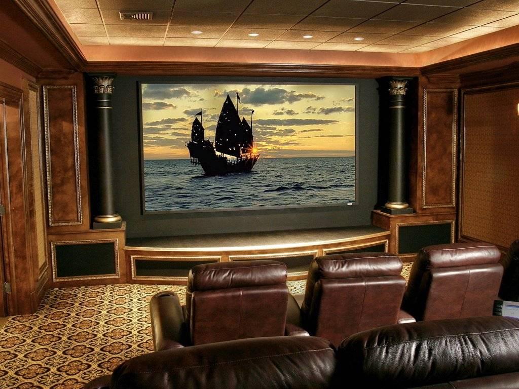 Интерьер и дизайн домашнего кинотеатра | 25 современных идей на фото