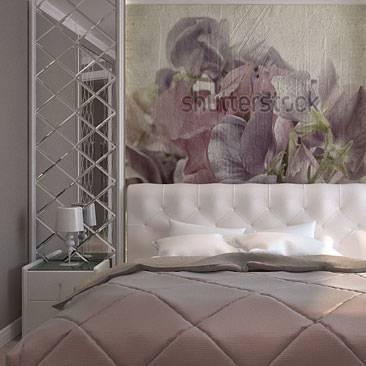 Фрески в интерьере гостиной на стену (50 фото идей)