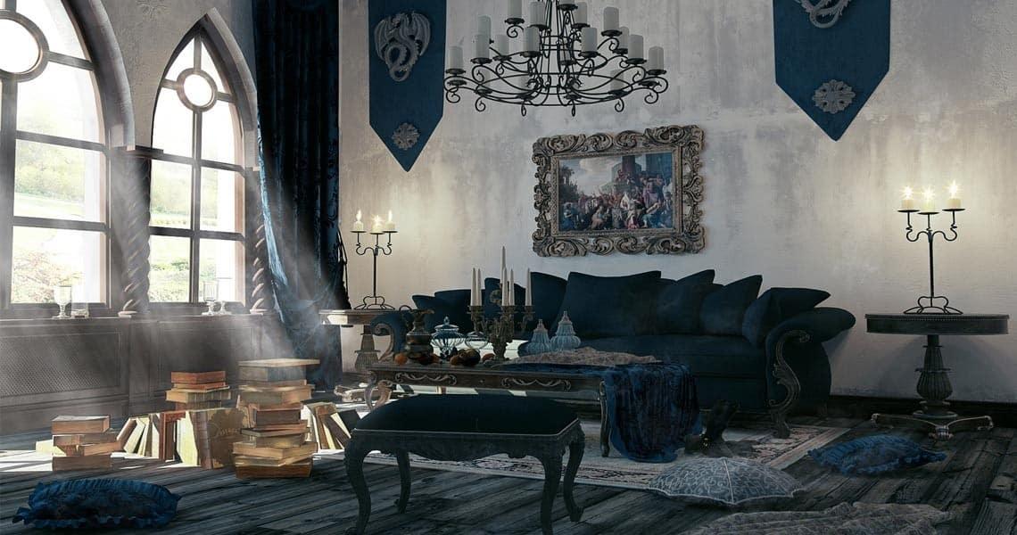 Романский стиль в интерьере: отделка, декор, мебель - 75 фото