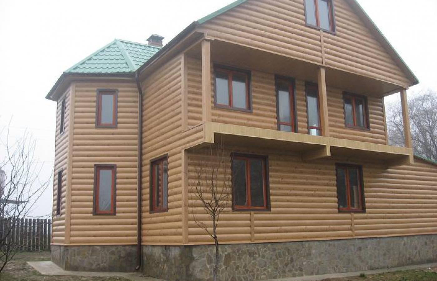 Блок хаус- фасад «под бревно». варианты отделки одноэтажных домов сайдингом блок хаус