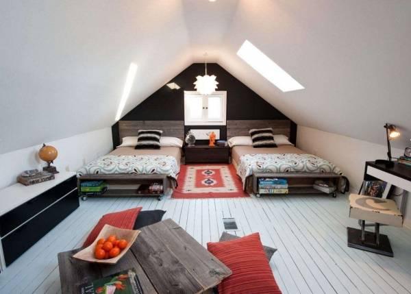 Дизайн спальни на мансарде 2017, 84 фото и идеи интерьера спальни | the architect