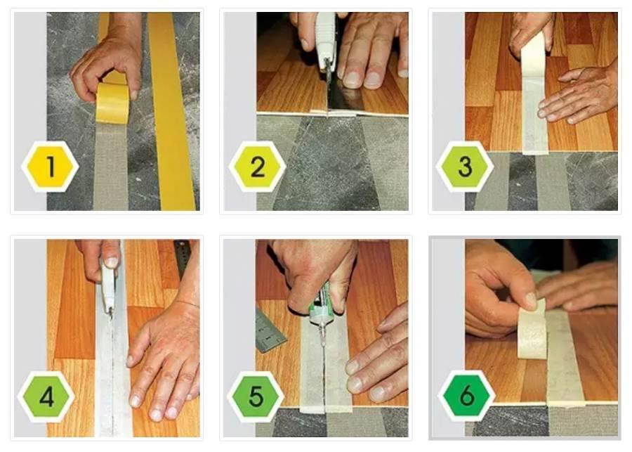 Чем приклеить линолеум и как сделать это правильно, видео инструкция