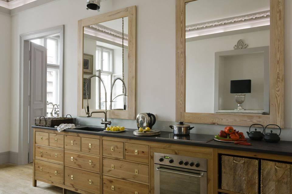 Зеркало на кухне — увеличиваем пространство. где разместить? как подобрать? как оформить? выбираем оптимальные варианты (на стене, над полкой, над столом, на фартуке)