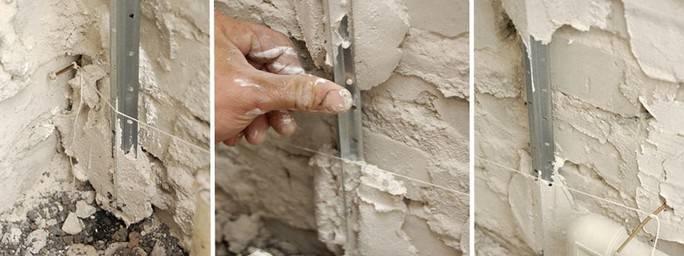 Как выровнять угол стены своими руками