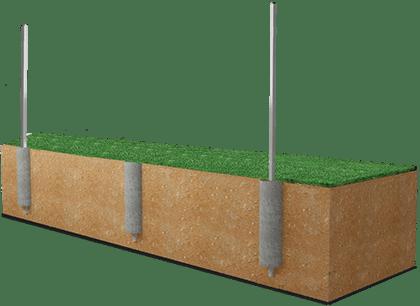 Установка столбов для забора: бурение и бетонирование своими руками, расстояние между бетонными изделиями и вариантами из кирпича