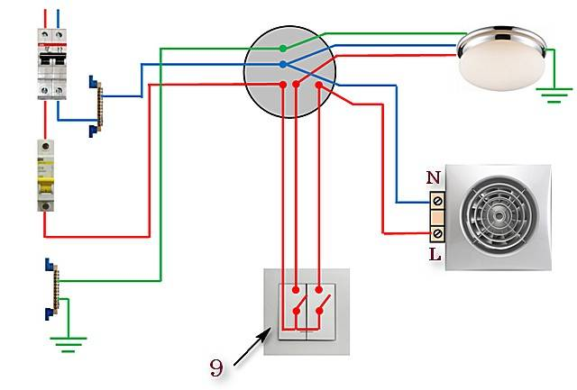 Как подключить вентилятор в ванной к выключателю: подключаем самостоятельно вентилятор вытяжной