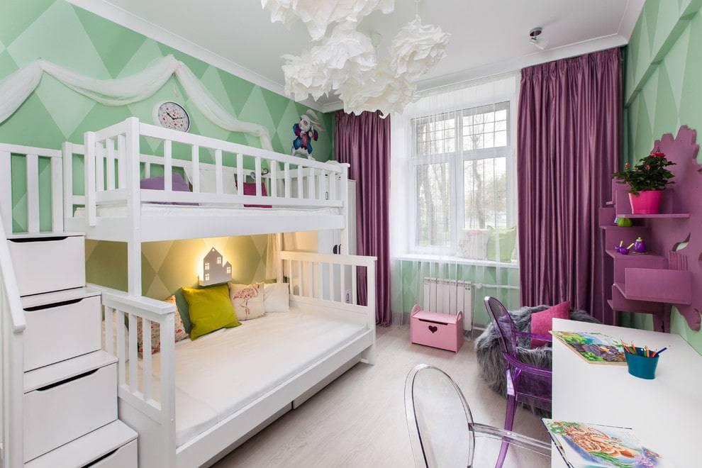 Детские комнаты с двухъярусной кроватью: двухэтажное королевство для ваших детей