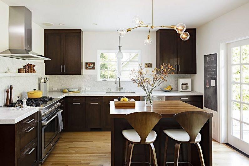 Дизайн квадратной кухни: маленькой, кухни-гостиной, грамотная планировка