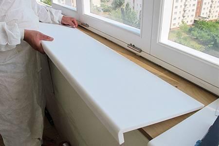 Установка подоконника на пластиковые окна - инструкция с фото поэтапно