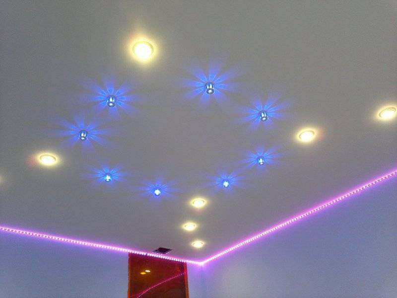 Подсветка натяжного потолка светодиодной лентой изнутри – самэлектрик.ру