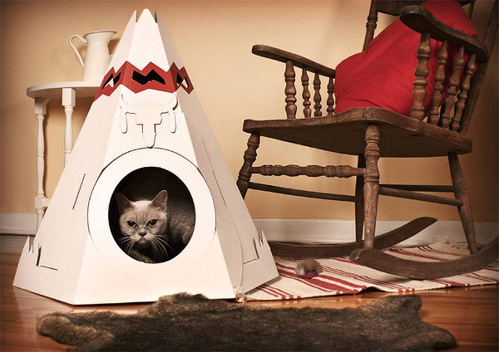 Домик для кошки своими руками - 11 идей как сделать, инструкция и мастер-классы (фото)