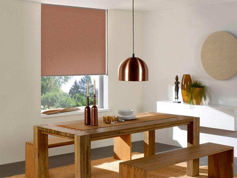 Рулонные шторы в интерьере (реальные фото примеры)
