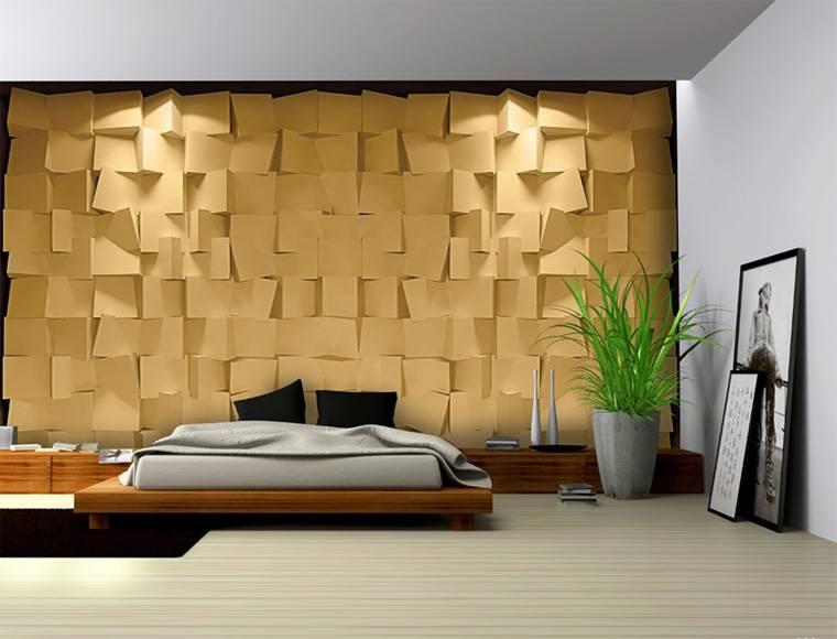 Интерьер спальни с фотообоями для современного дизайна