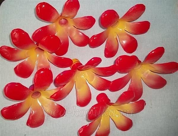 Цветы из пластиковых бутылок своими руками - пошагово для начинающих - мастер класс с фото и описанием - видео уроки