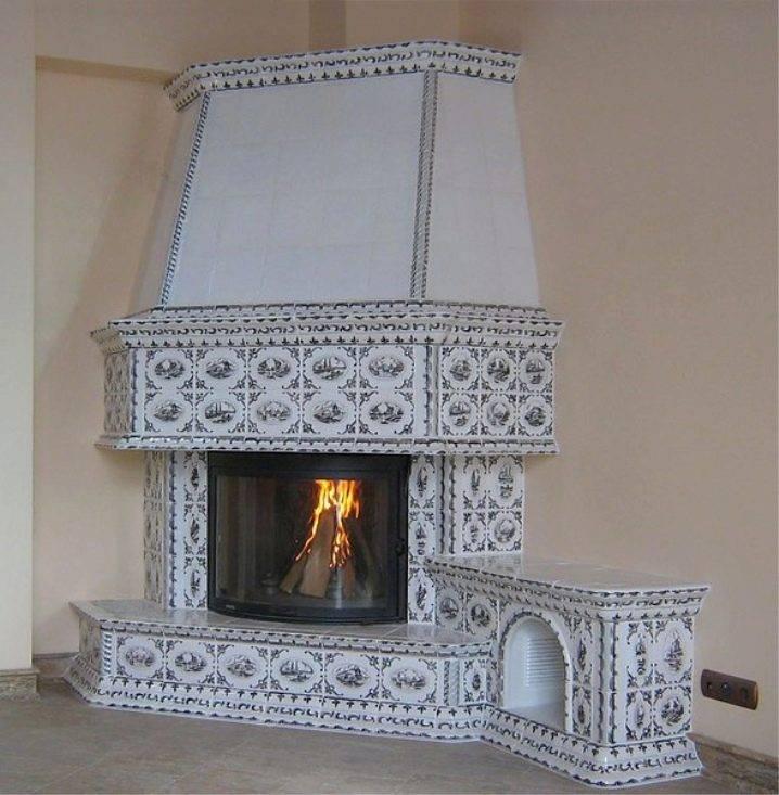 Декоративная отделка камина: 8 материалов для облицовки камина + фото