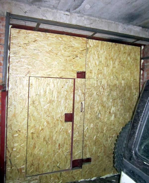 Утепление ворот гаража изнутри своими руками: как утеплить пенопластом, пеноплексом, пенополистиролом, фото и видео