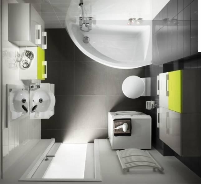 Планировка и дизайн ванной комнаты 4 кв метра: идеи вариантов интерьера и фото