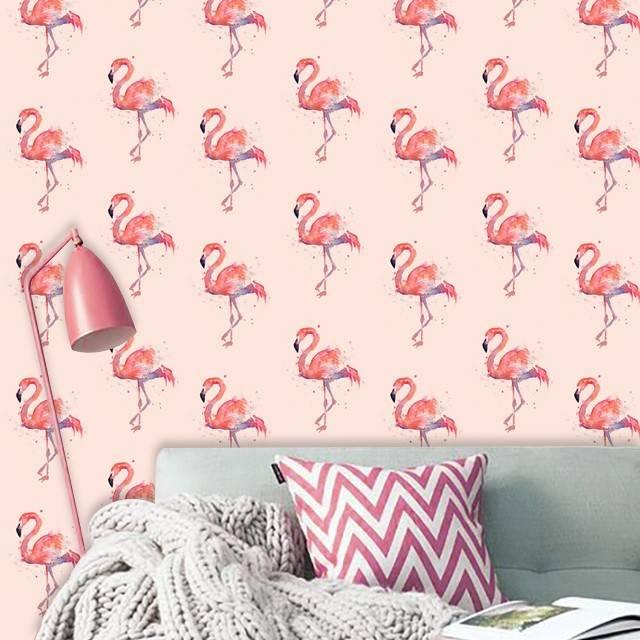Обои фламинго для стен (22 фото): розовые фламинго в интерьере