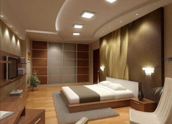 Оформление гипсокартонного потолка в спальне