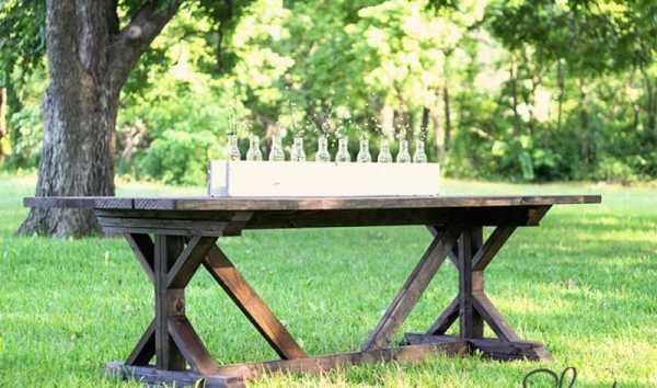 Деревянная мебель в беседку: стол и скамейка своими руками
