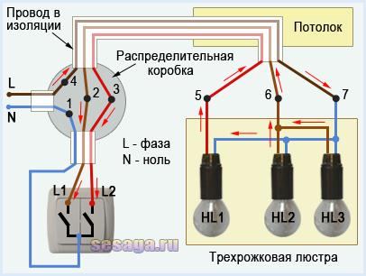Как подключить точечные светильники: параллельное, последовательное соединение, последовательность работ