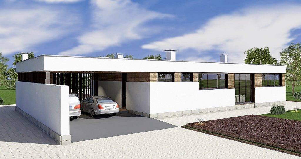 Дома с плоской крышей — особенности конструкций, лучшие проекты и идеи (75 фото)