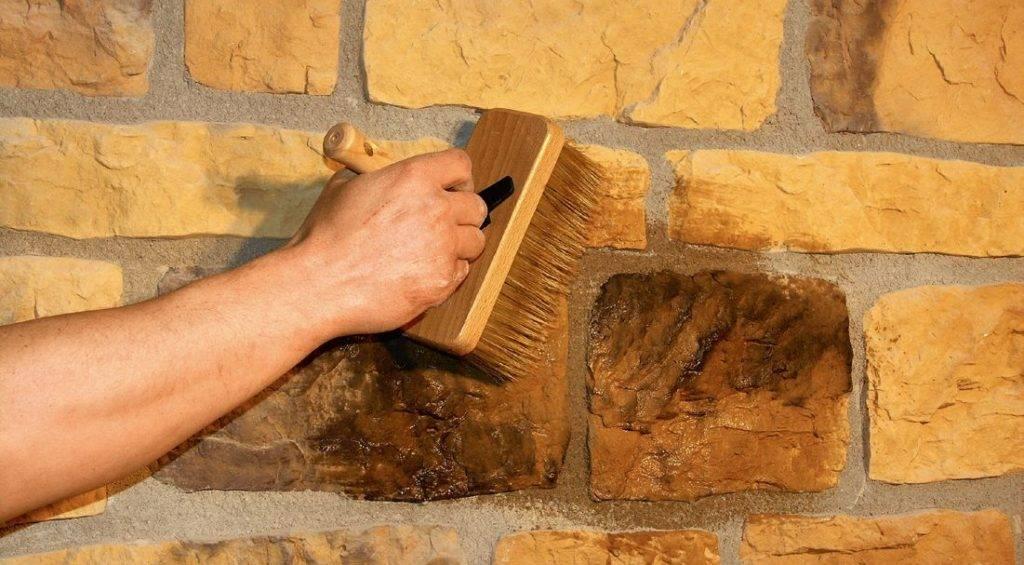Эффект мокрого камня своими руками - о нюансах в строительных работах