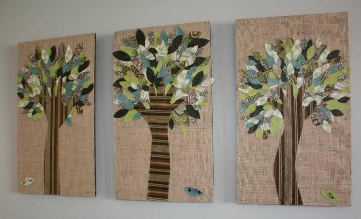 Панно на стену своими руками - фото примеров