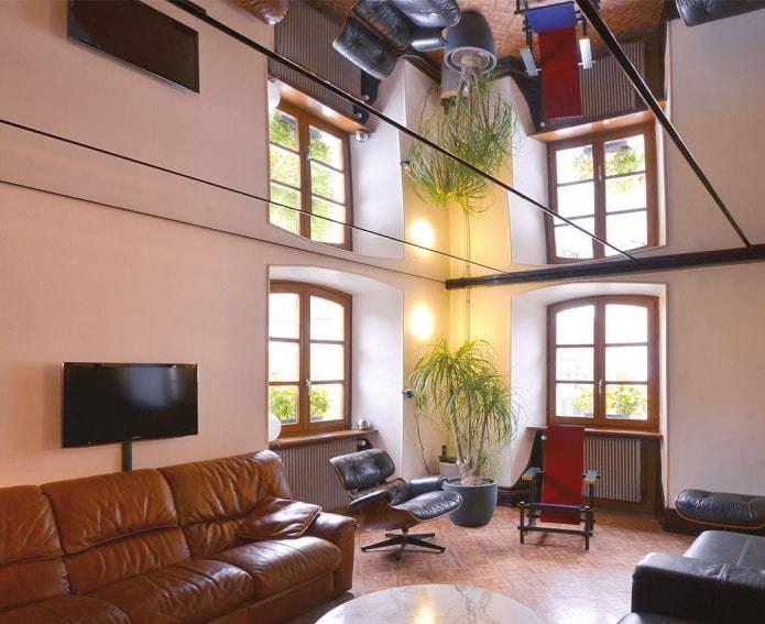 Зеркальный натяжной потолок - 25 фото интерьеров