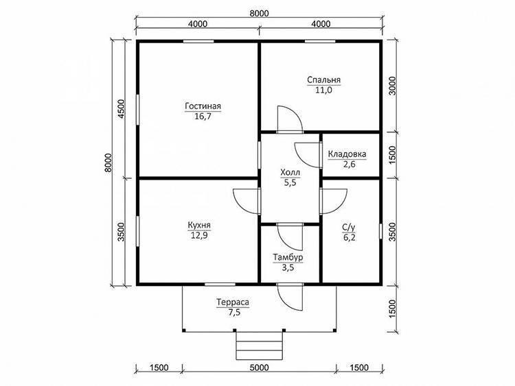 Дома из бруса: проекты, цены и фото лучших построек (70 вариантов)