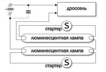 Дроссель для ламп дневного света - схема подключения, как проверить исправность и запуск с дросселем и без